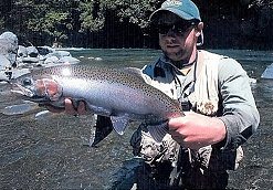 Fishing guide Jamie Davies caught this great fish in the tongariro river
